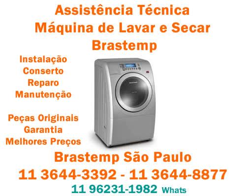assistência técnica máquina de lavar e secar brastemp