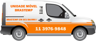 Unidade móvel Brastemp para assistência técnica geladeira
