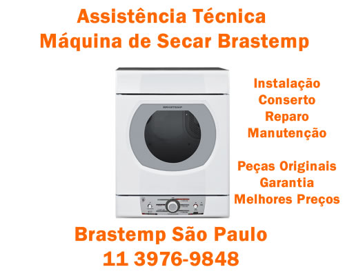 Assistência técnica máquina de secar Brastemp